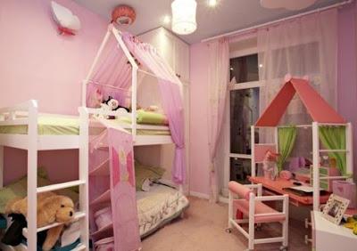 Interesantna dijecija soba za djevojcice