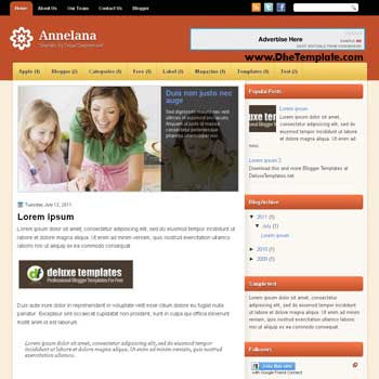 Annelana Blogge Template blogger template. free blogspot template