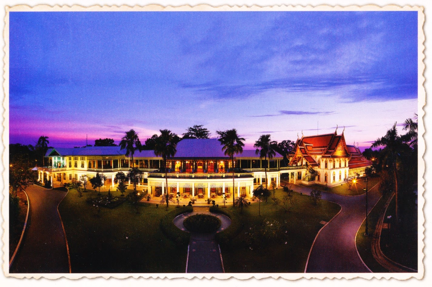 thailand, palace, postcard