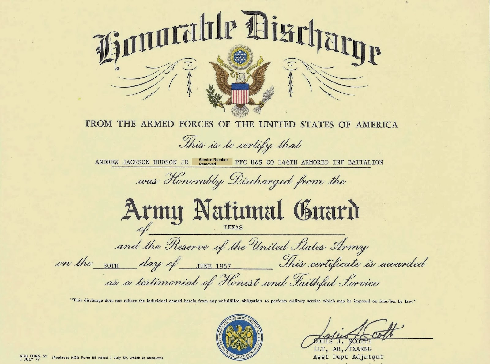 Awards certificates citations and diplomas war stories of an after putting this together im trying to work up courage to tell my wife i found my texas army national guard honorable discharge certificate 1betcityfo Gallery