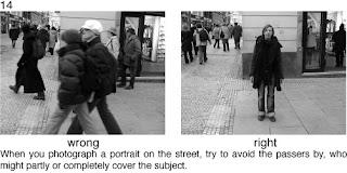 Совет 14. Когда проводите съемку на улице, следите что бы случайные прохожие не были в центре кадра.