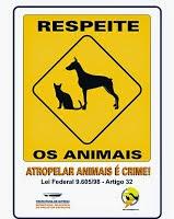 Seja legal com os animais!
