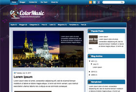 ColorMusic Blogger Template