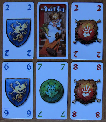The Dwarf King - Examples of the non picture cards for the 3 suit's and the card back