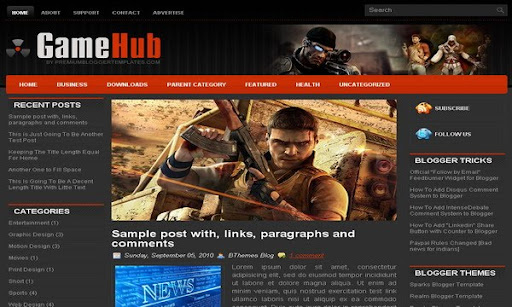 GameHub Blogger Template