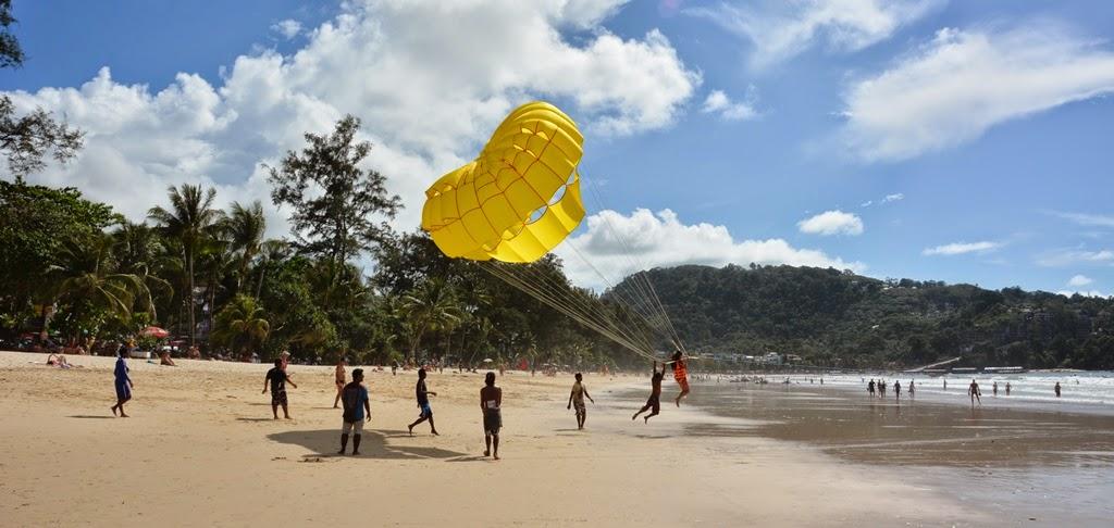 Patong Beach Phuket parasailing start