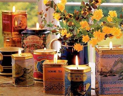 Thrifty Tea Tins by Alguma Bossa