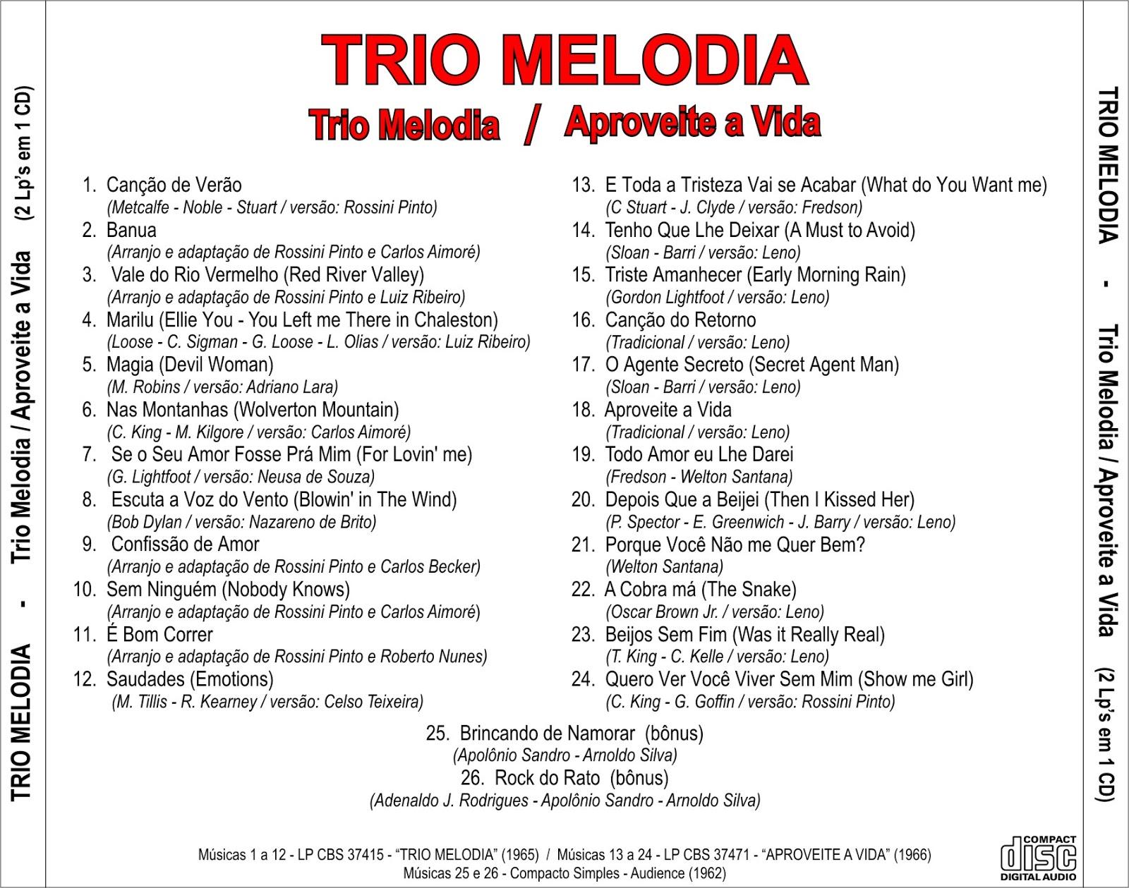 Trio Melodia Aproveite A Vida
