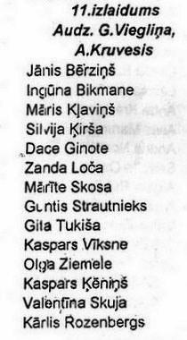 Valles vidusskolas 11. izlaidums 1988. gadā