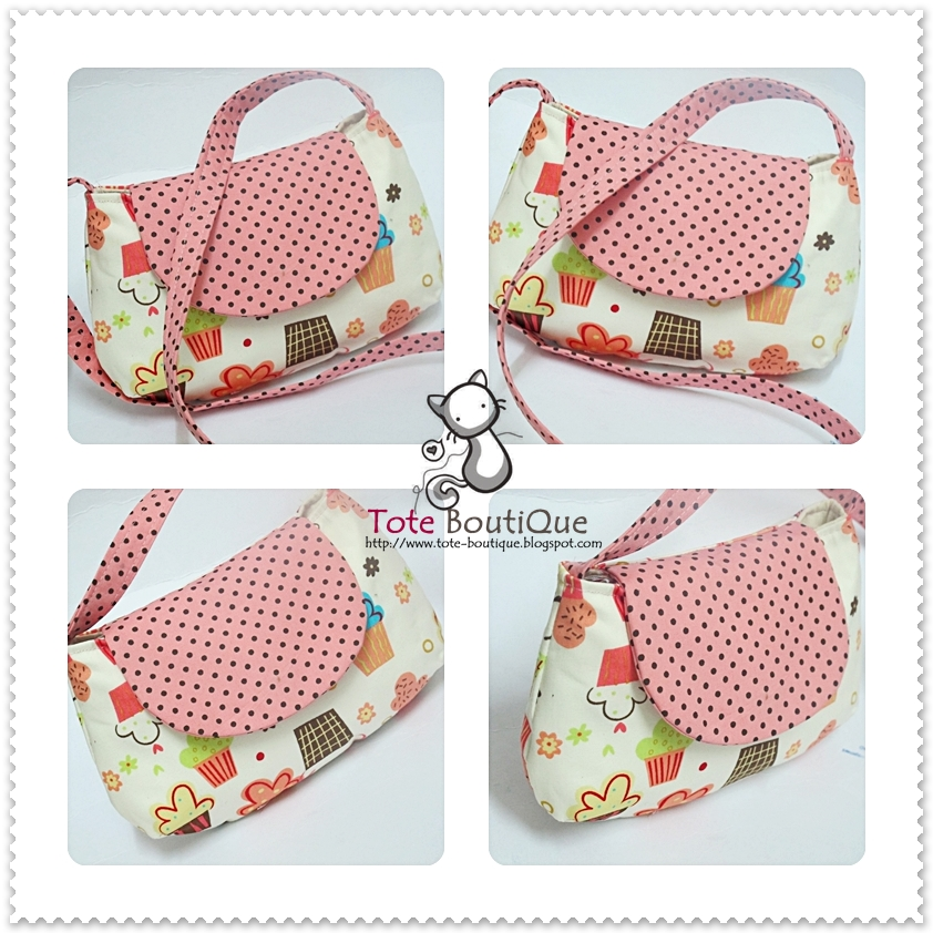 TOTE BOUTIQUE STUDIO: CHUPPY CHUPPY CUPCAKES SLING BAG FOR KIDS