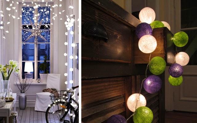 Not for boring decora con guirnaldas de luces for Guirnaldas de luces para exterior