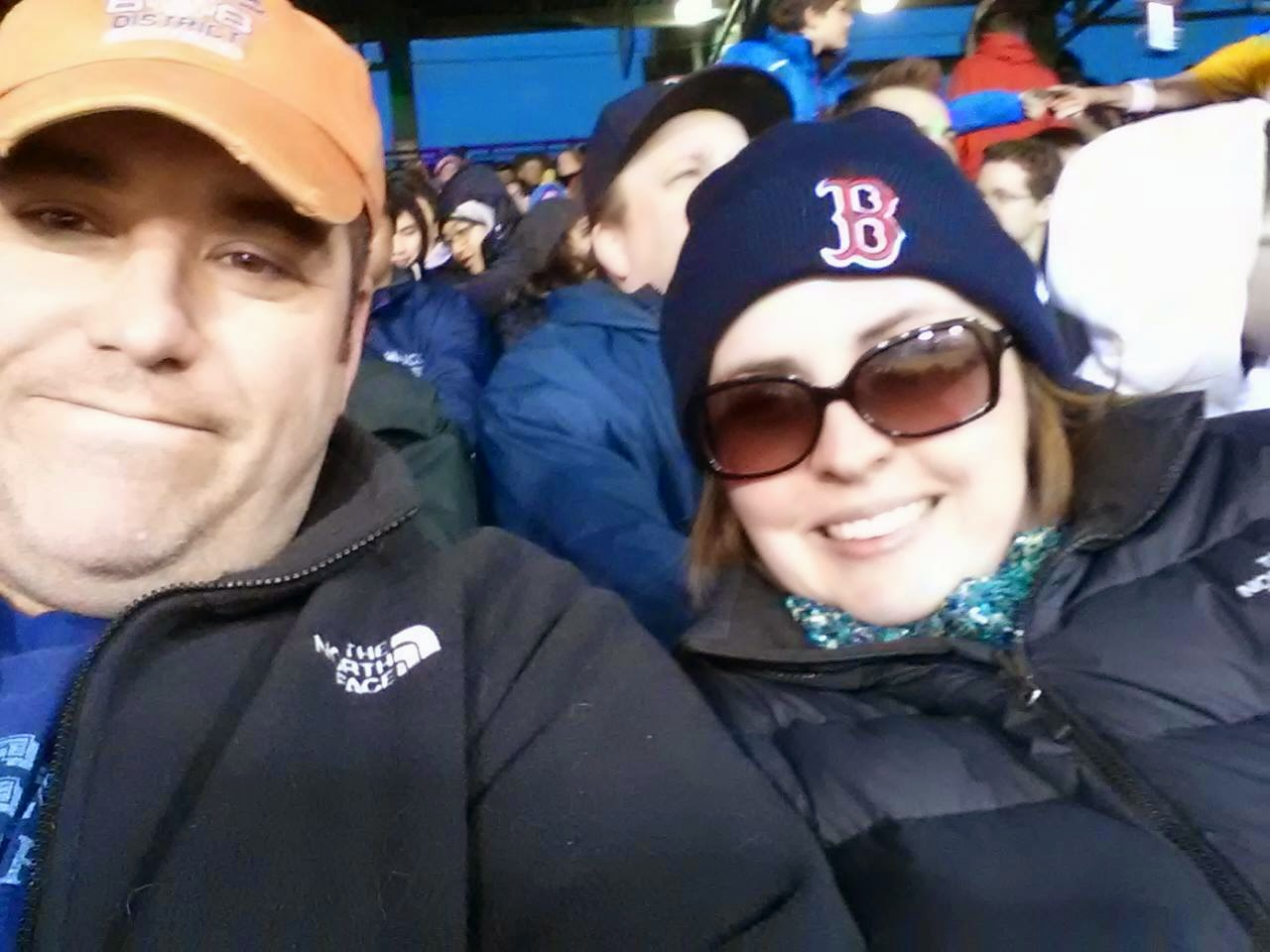 Watching the Sox with the hubs
