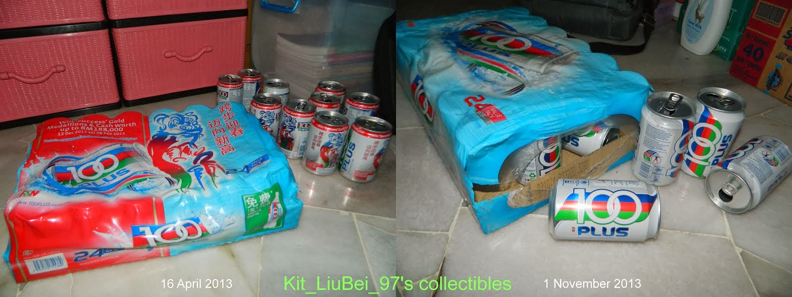 I like 100PLUS and collect various cans!!!