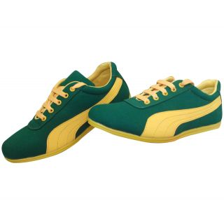 Casual green sports shoes