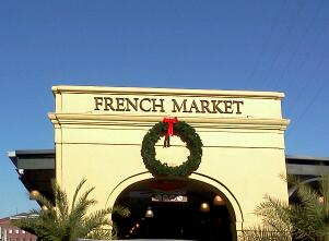 The graceful entrance to the French Market in New Orleans