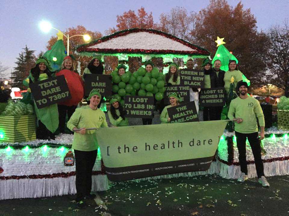 greenville christmas parade day with the health dare - Greenville Sc Christmas Parade