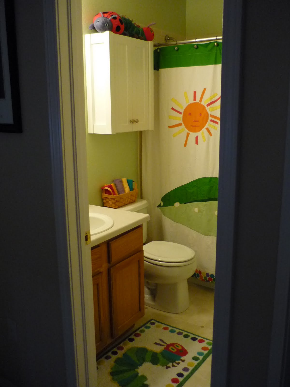 The Clarke Family: Very Hungry Caterpillar Bathroom