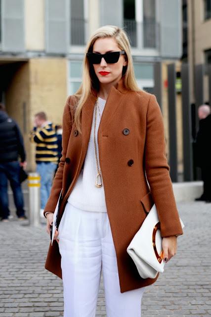 Joanna Hillman Camel Coat Trend Street Style