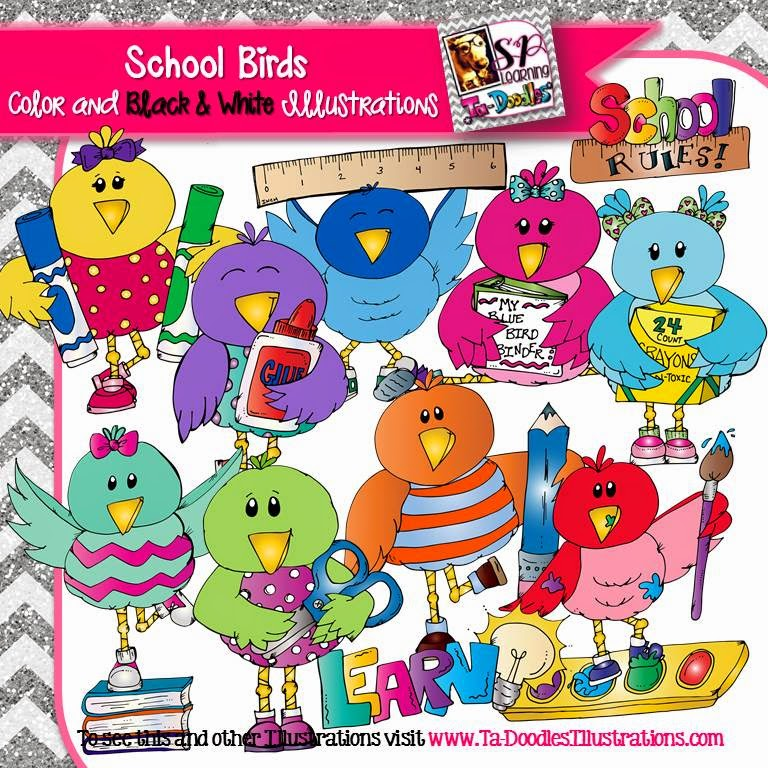 https://www.teacherspayteachers.com/Product/School-Birds-clip-art-1668462