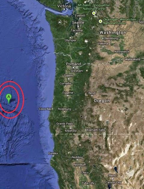 Magnitaude 3.4 Earthquake of Bandon, Oregon 2014-09-29