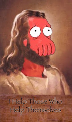 zoidberg jesus i help those who help themselves