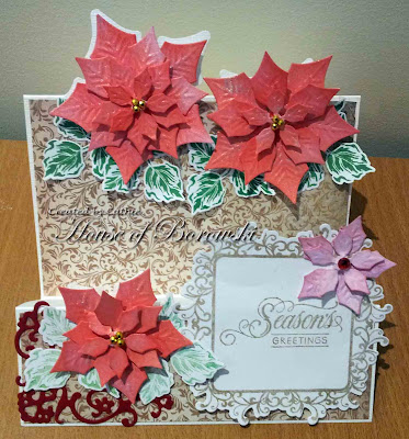 Le Crystelle, Spellbinders Poinsetta, Gina K Designs