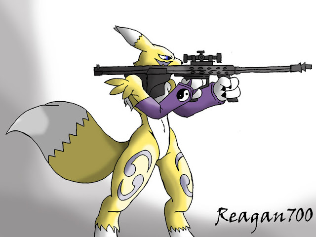 Renamon with a barret por Reagan700