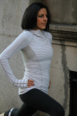 lululemon back on track pullover silver spoon
