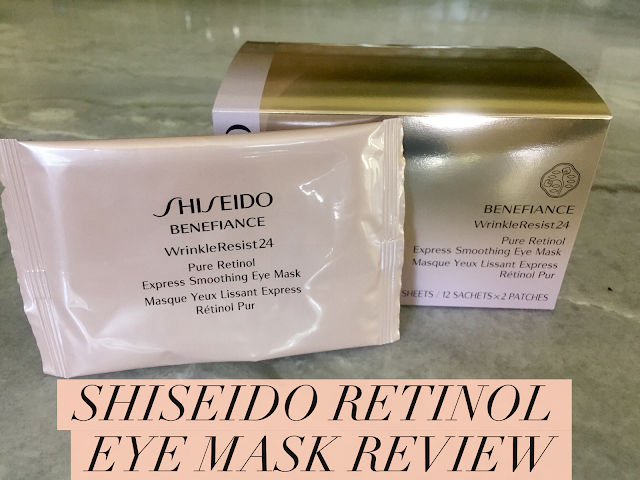 Shiseido retinol eye mask review, eye mask review