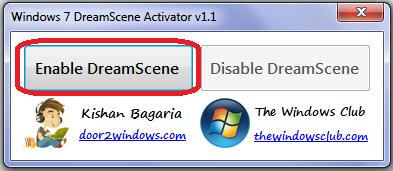 الاداة الرائعة الفيديو خلفية المكتب Windows DreamScene Activator