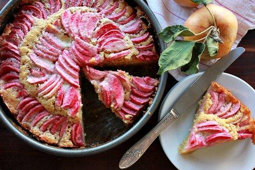 ... pink pearl apple custard tart über apple upside down cake apple