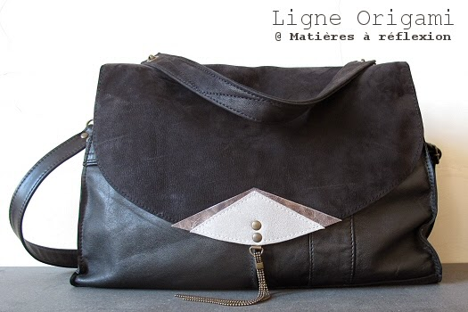 Besace cuir vintage Origami by Matieres a reflexion
