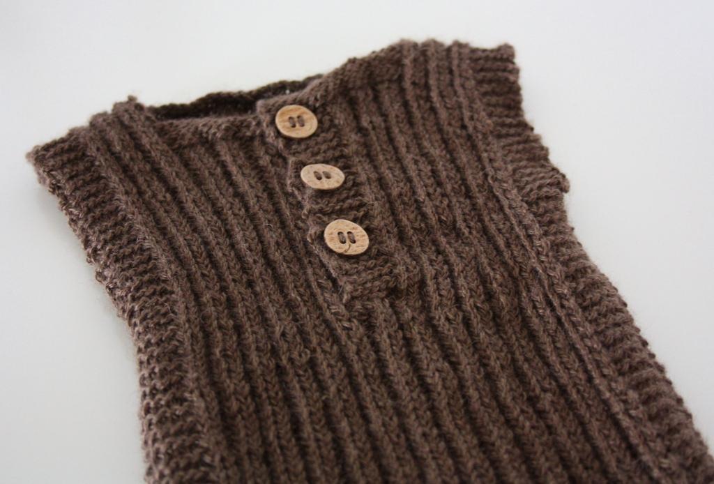 strikket vest opskrift gratis