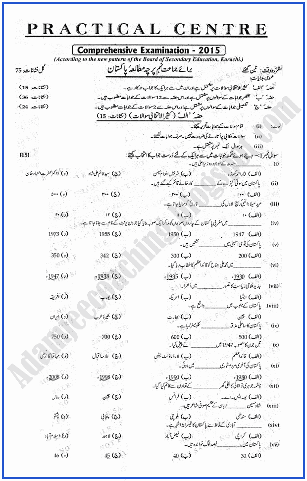Practical Centre Guess Papers 2015