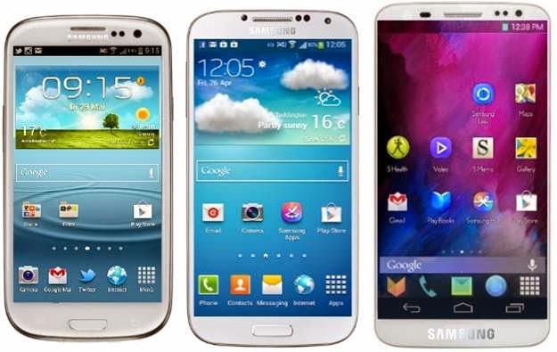 Samsung Galaxy S3, S4 dan S5