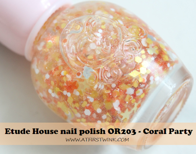 Review: Etude House nail polish OR203 - Coral party