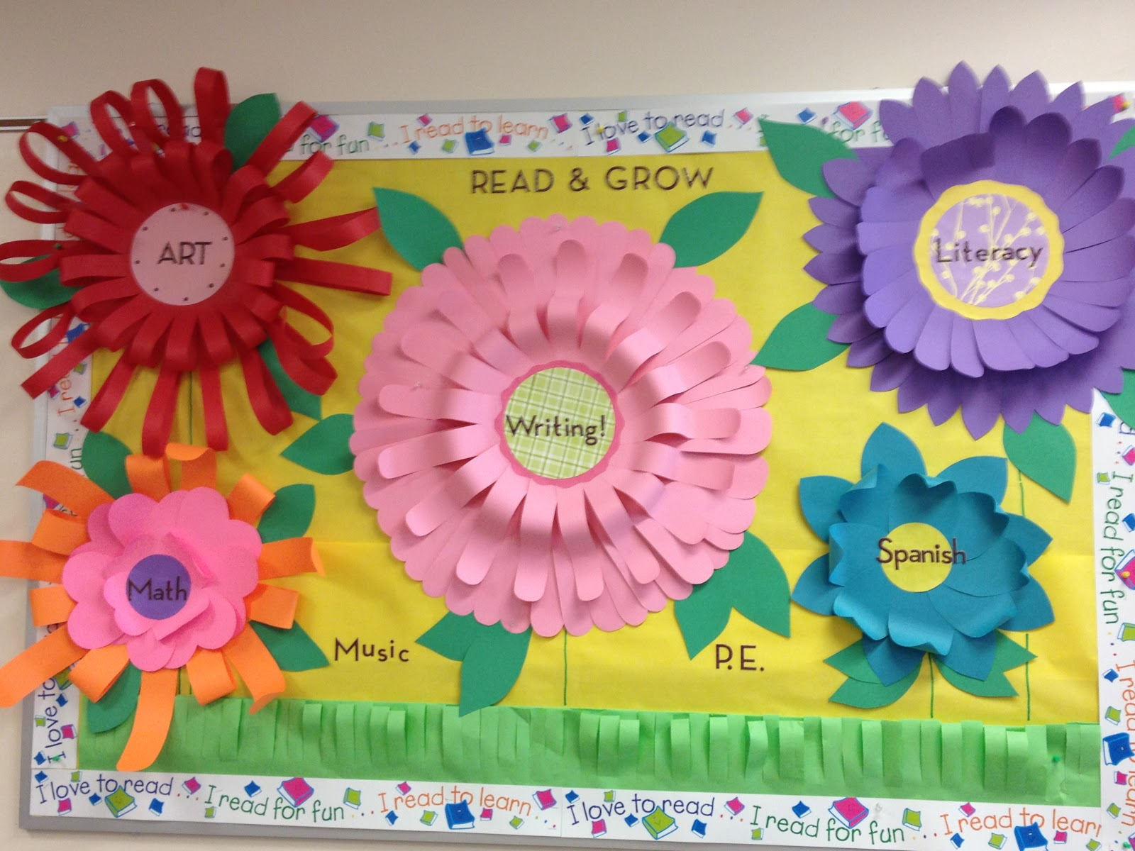 bookinitat50 3d flower bulletin board
