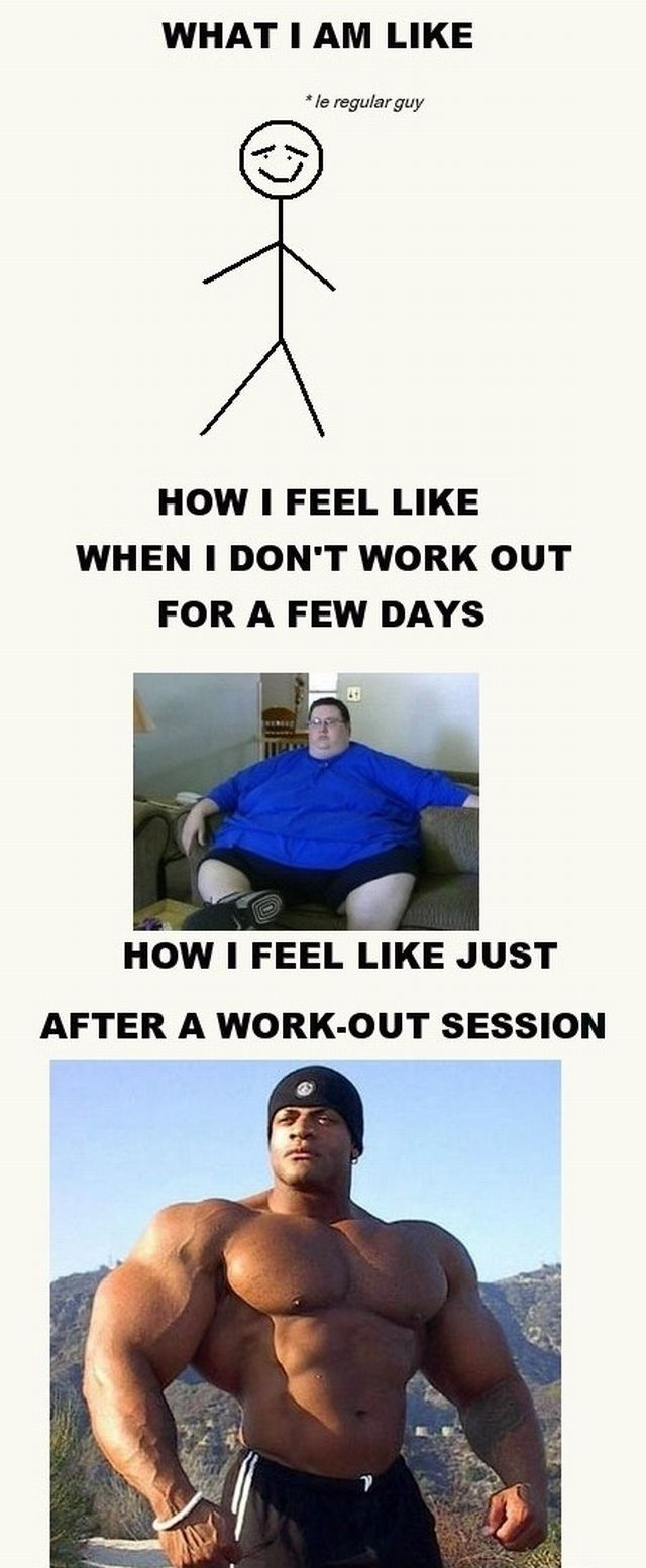 What I Am Like - How I Feel Like After A Work-Out Session