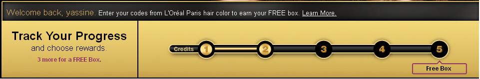 Echantillon gratuit Une coloration cheveux de  l'Oreal