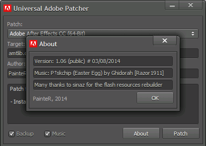 how to  adobe patch