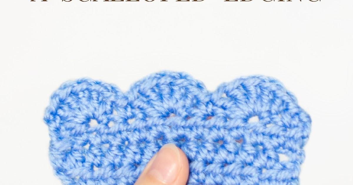Crochet Stitches Scallop Edging : ... Honey Craft, Crochet, Create: How To: Crochet A Scalloped Edging