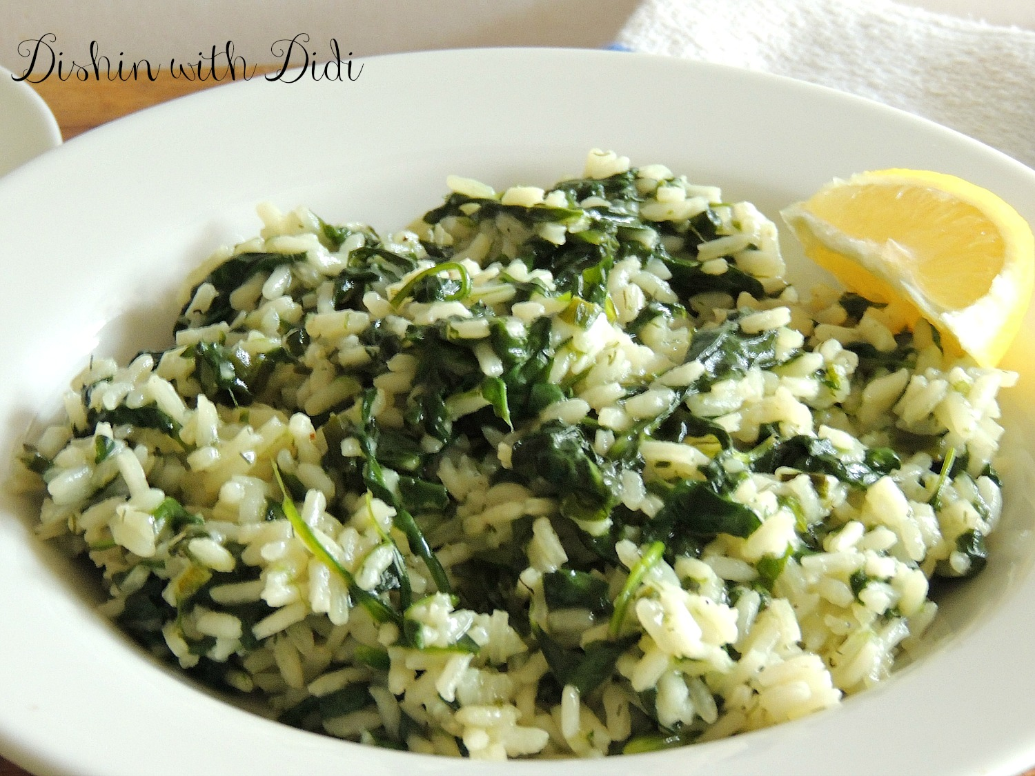 Dishin with Didi: Spanakorizo (Greek Spinach Rice)