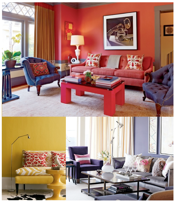 10 rooms how the colour of your sofa can enlarge your room for Red sofa what colour walls