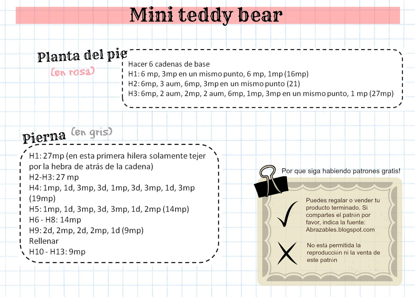 Abrazables: Mini teddy bear