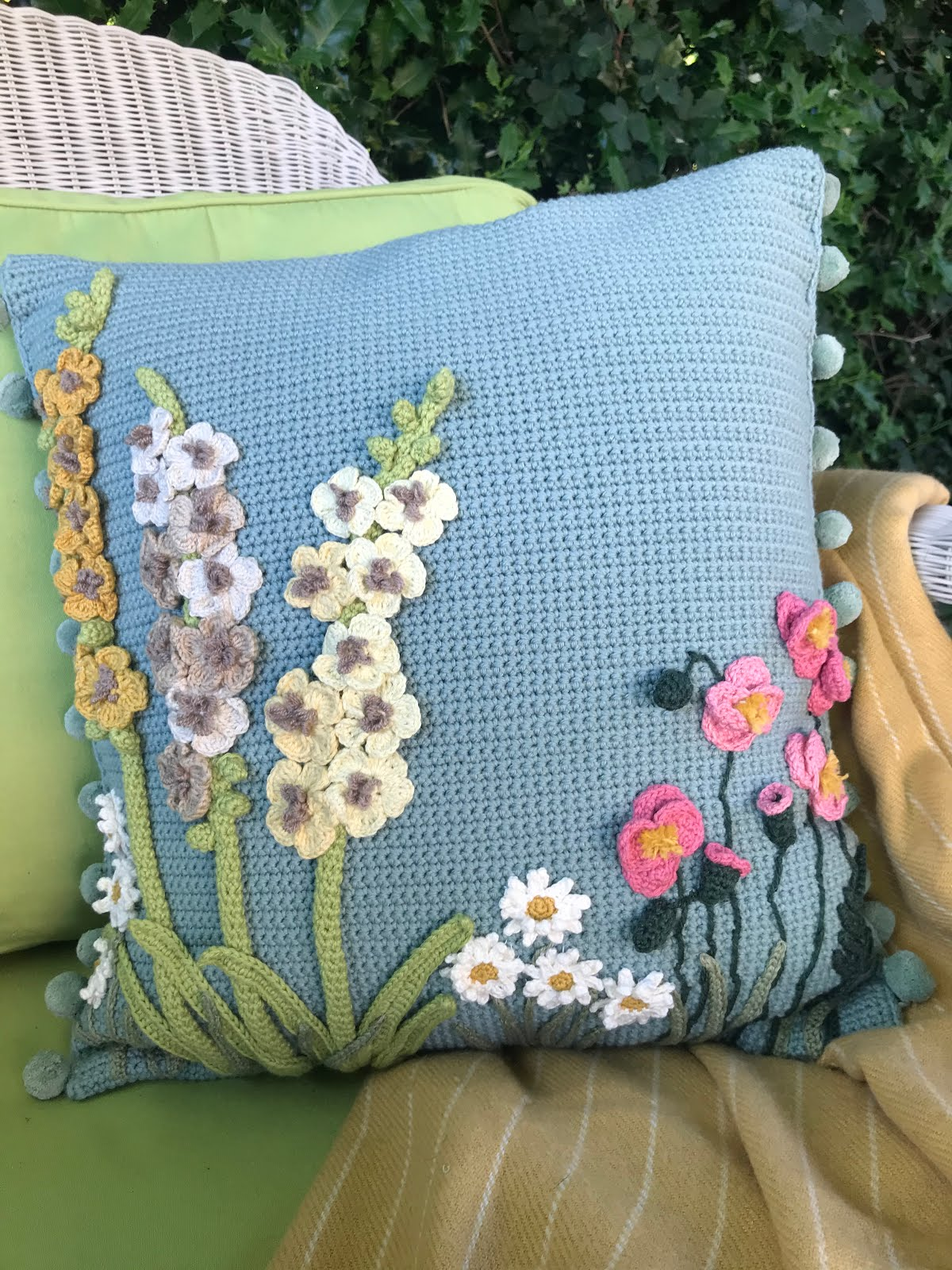 Chelsea Flower Show cushion pattern