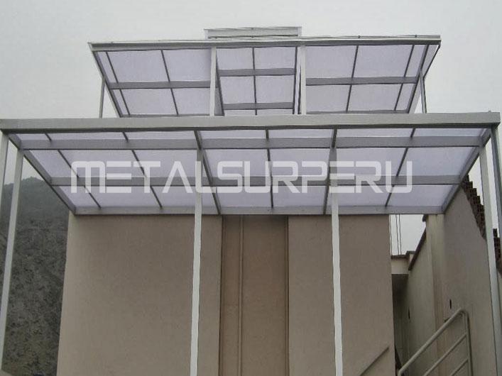Techos para patios coberturas met licos arequipa - Escaleras de techo ...