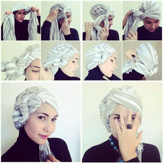 إعرفي كيفية لف حجابكِ بالطريقة المميزة بالصور