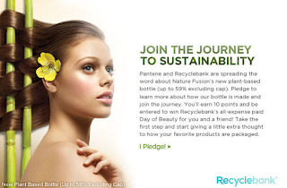 Learn & Earn w Pantene & Recyclebank - CLICK HERE to pledge!