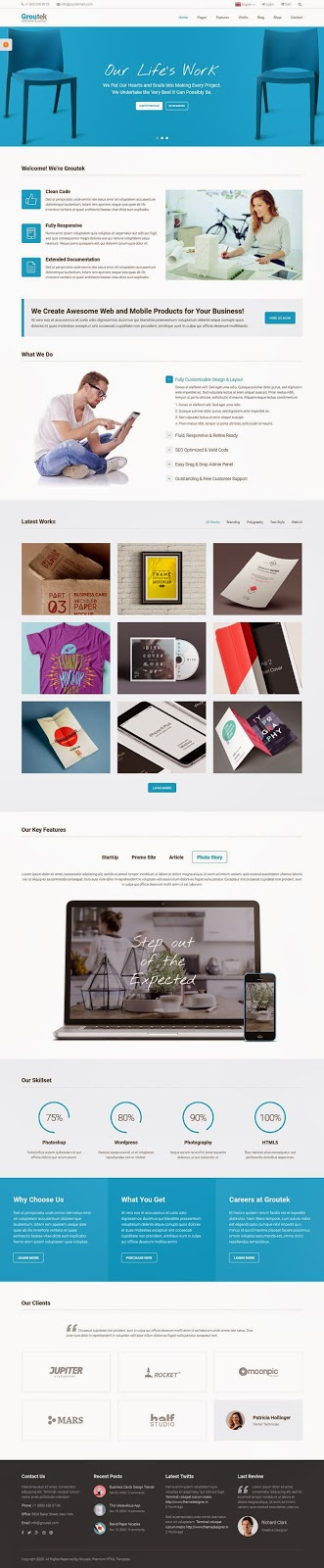 Free Multipurpose Bootstrap Template 2015