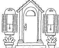 Inside Front Door Clipart perfect front door clipart black and white sun clouds 10290 on